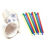 Cone Cups and Spoon Straws