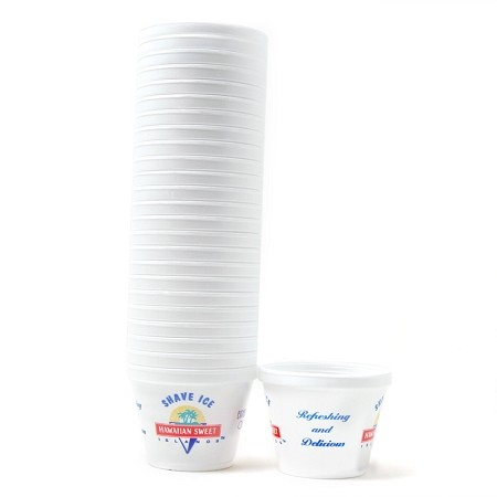 1 Tube of 12oz Styrofoam Shave Ice Cups